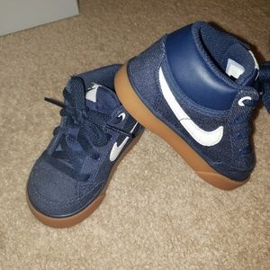 Dark denim Nike toddler shoes